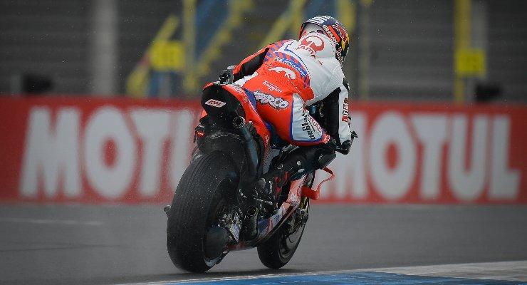 Johann Zarco in pista sulla Ducati Pramac al Gran Premio d'Olanda di MotoGP 2021 ad Assen