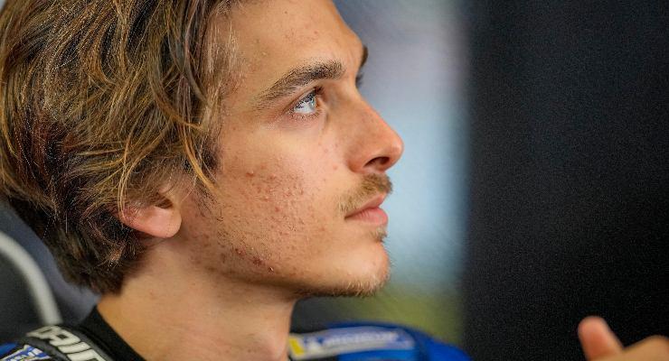 Luca Marini ai box