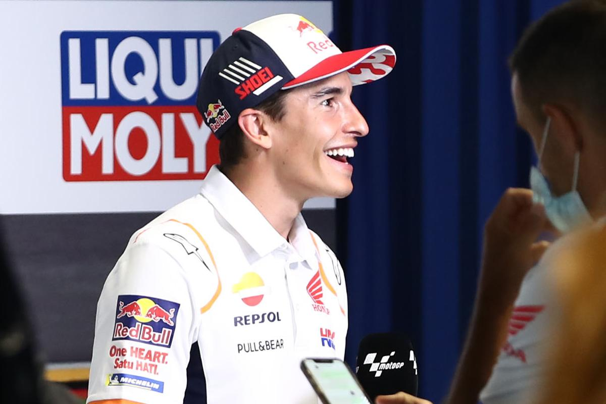 Marc Marquez in conferenza stampa al Gran Premio di Germania di MotoGP 2021 al Sachsenring