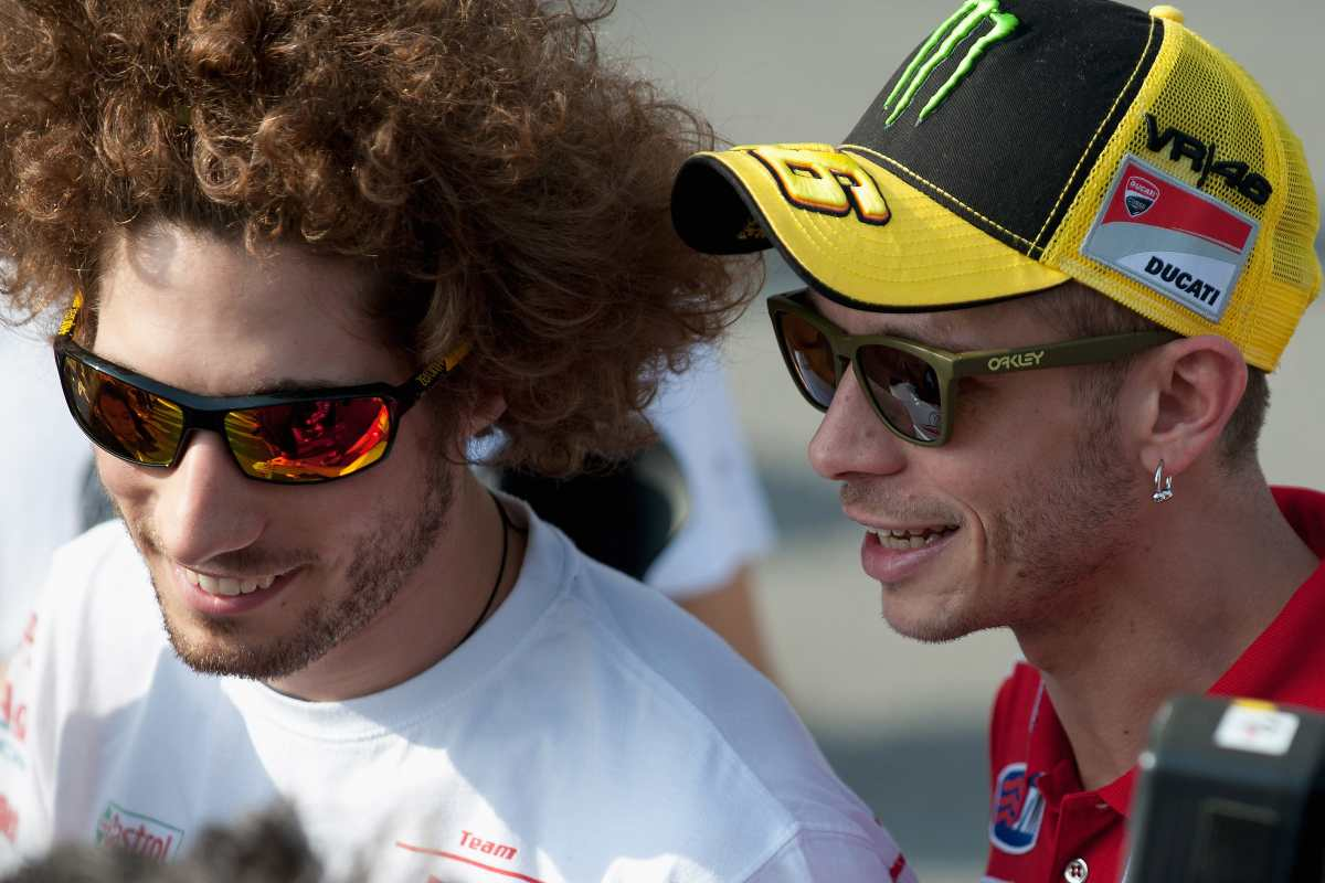 Marco Simoncelli e Valentino Rossi