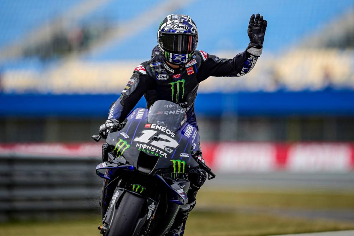 Maverick Vinales in pista al Gran Premio d'Olanda di MotoGP 2021 ad Assen