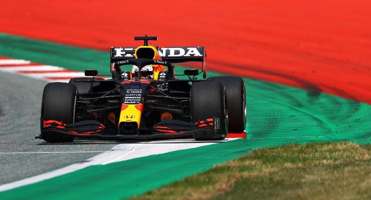 Max Verstappen in pista al Gran Premio di Stiria di F1 2021 al Red Bull Ring