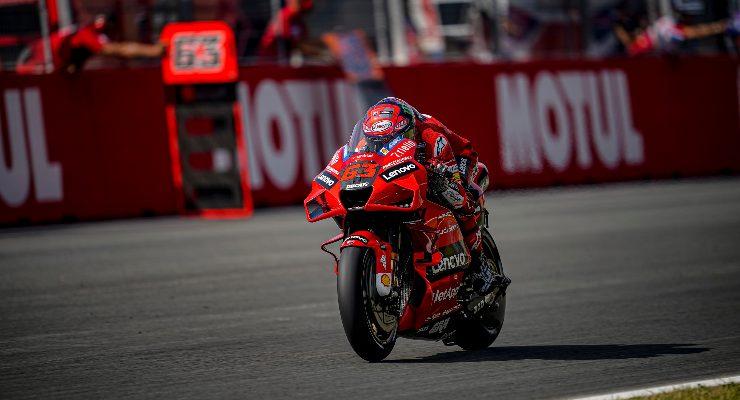 Pecco Bagnaia in pista al Gran Premio d'Olanda di MotoGP 2021 ad Assen