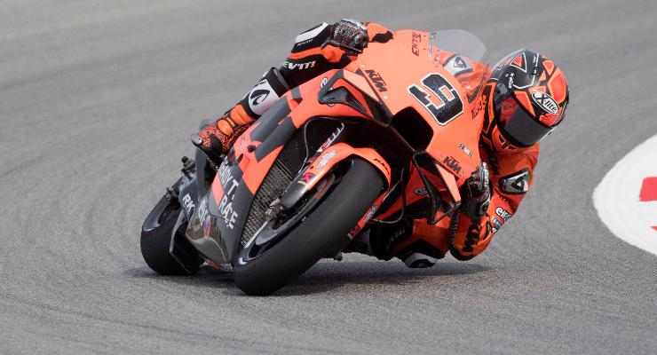 Danilo Petrucci sulla Ktm Tech3 nelle prove libere del Gran Premio di Catalogna di MotoGP 2021 a Barcellona