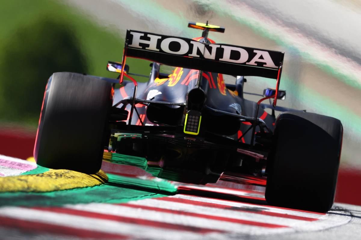 La Red Bull-Honda in pista al Gran Premio della Stiria di F1 2021 al Red Bull Ring