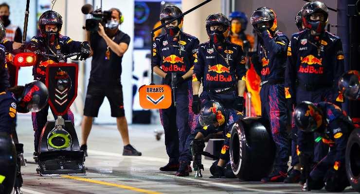 Il pit stop della Red Bull
