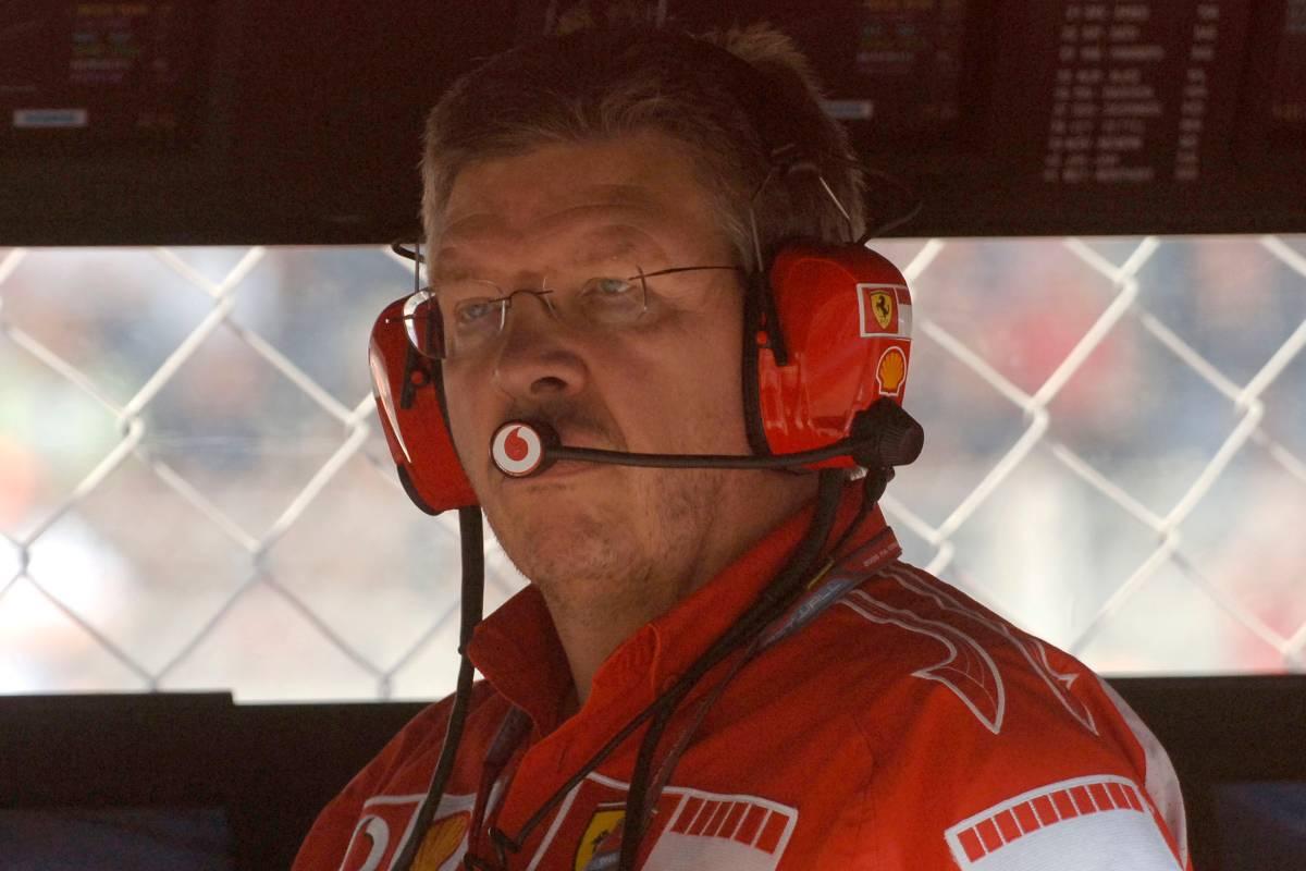 Ross Brawn ai tempi in cui era direttore tecnico della Ferrari