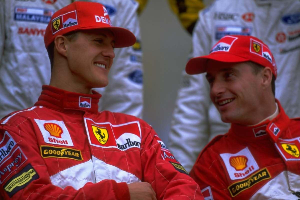 Michael Schumacher ed Eddie Irvine ai tempi in cui erano compagni di squadra alla Ferrari