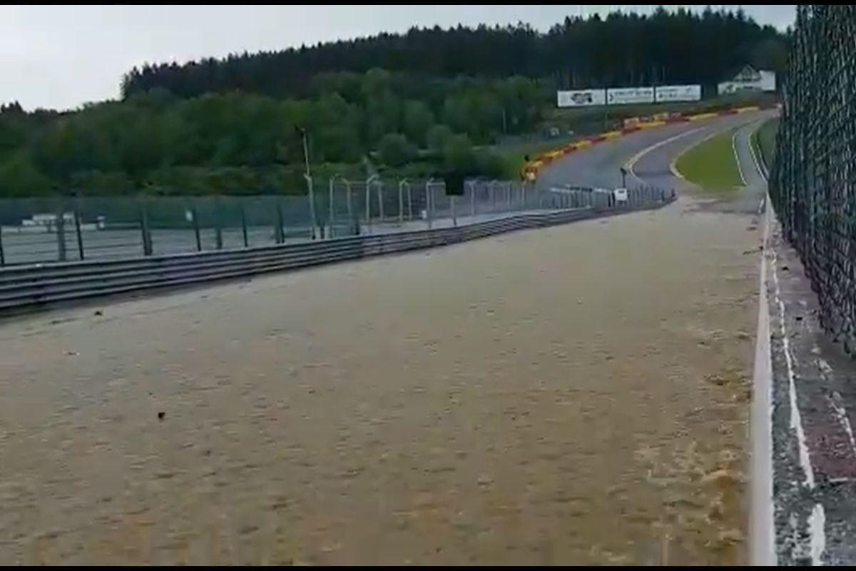 Il circuito alluvionato di Spa-Francorchamps