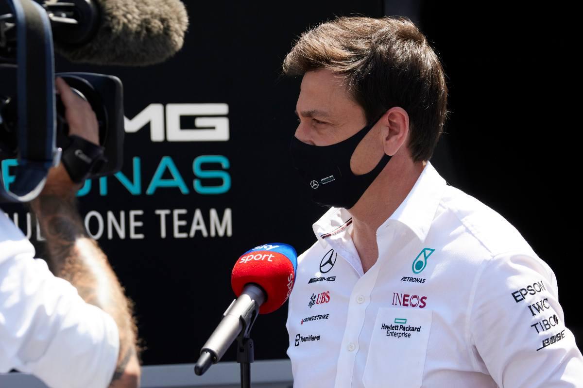 Toto Wolff dopo il Gran Premio dell'Azerbaigian di F1 2021 a Baku