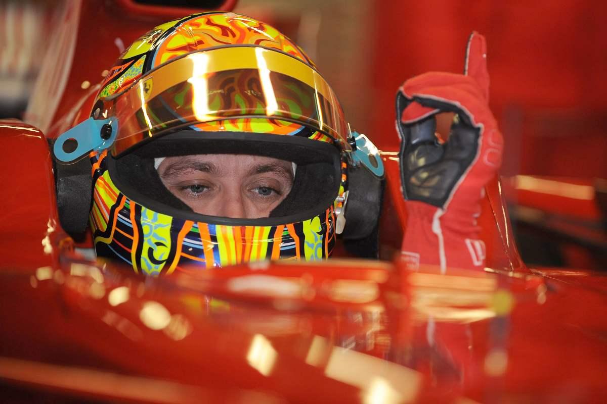 Valentino Rossi sulla Ferrari