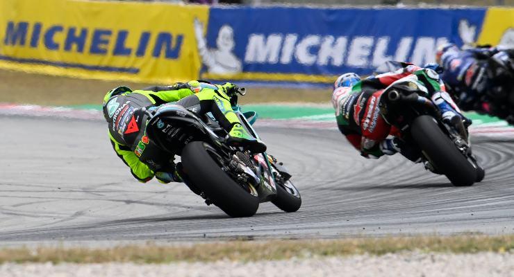 Valentino Rossi nel Gran Premio di Catalogna di MotoGP 2021 a Barcellona