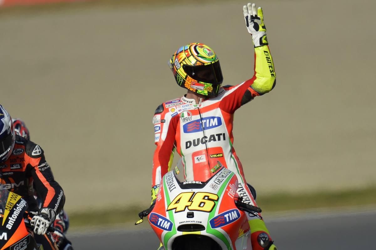 Valentino Rossi ai tempi della Ducati