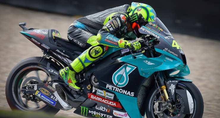 Valentino Rossi in pista al Gran Premio d'Olanda di MotoGP 2021 ad Assen