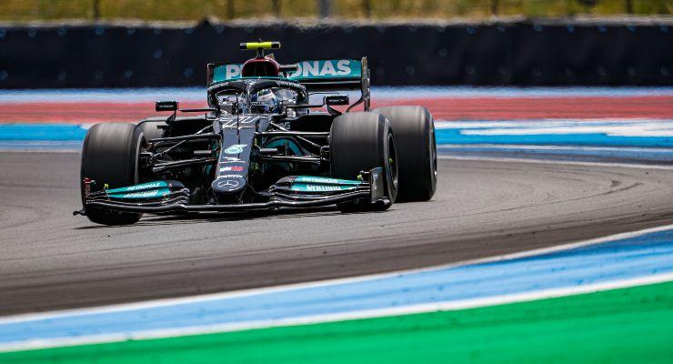 Valtteri Bottas in pista al Gran Premio di Francia di F1 2021 al Paul Ricard