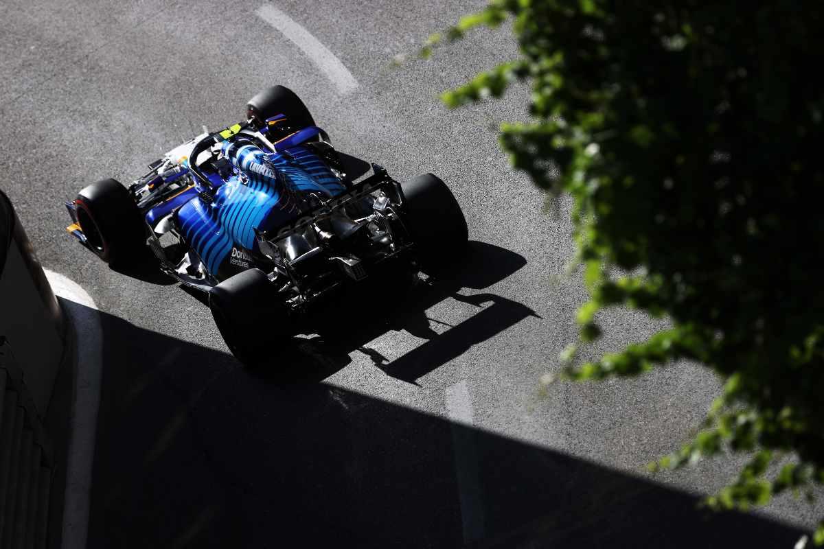 Una fase di gara del Gran Premio dell'Azerbaigian di Formula 1 2021 a Baku