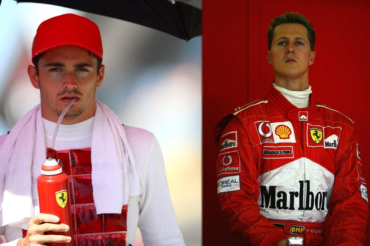 Charles Leclerc e Michael Schumacher (GettyImages)
