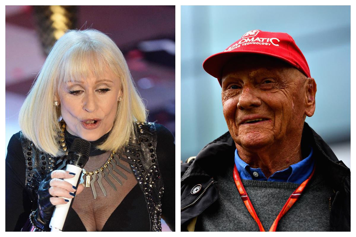 Raffaella Carrà e Niki Lauda