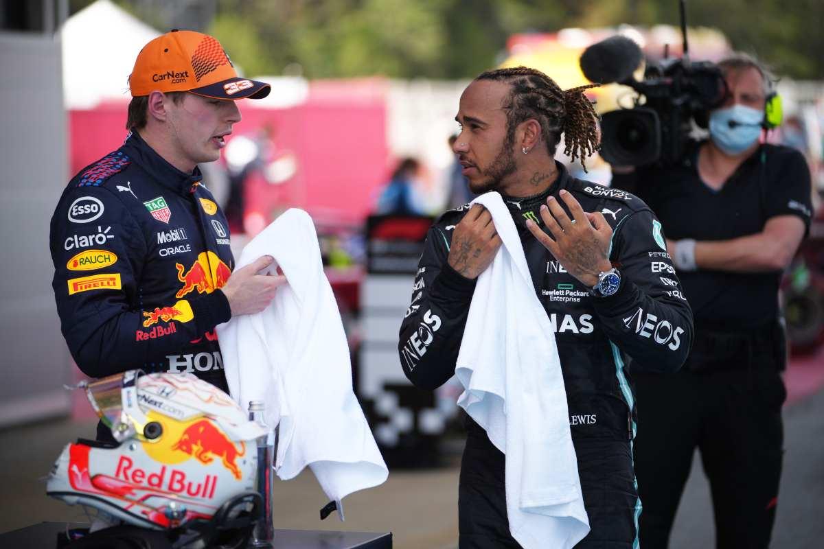 Lewis Hamilton e Max Verstappen (GettyImages)