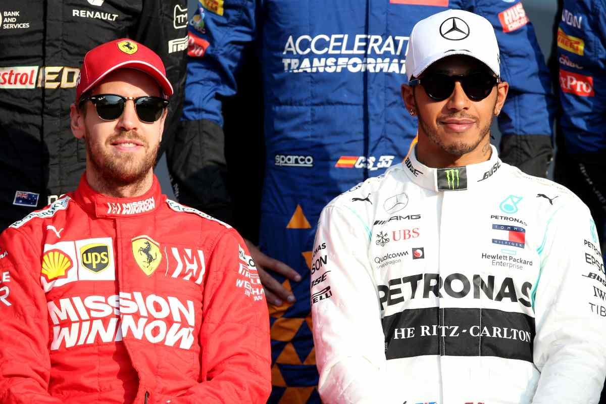Sebastian Vettel e Lewis Hamilton (GettyImages)