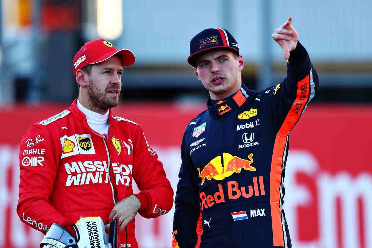Sebastian Vettel e Max Verstappen (GettyImages)