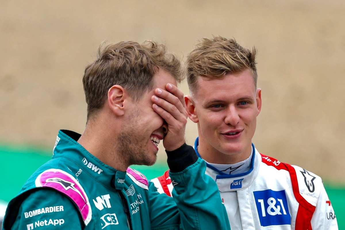 Sebastian Vettel e Mick Schumacher (Twitter)