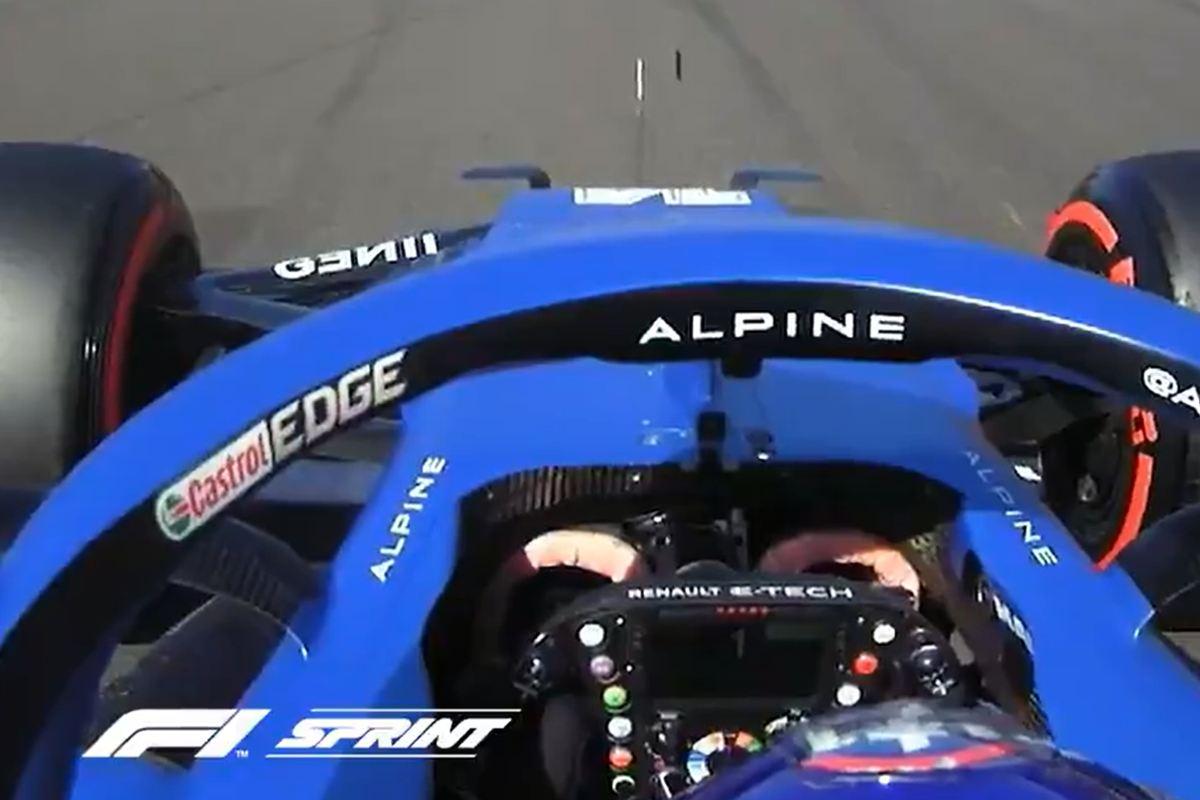La partenza di Fernando Alonso nelle qualifiche sprint del Gran Premio di Gran Bretagna a Silverstone