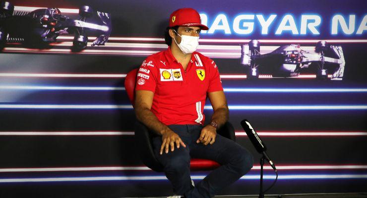 Carlos Sainz nella conferenza stampa alla vigilia del Gran Premio d'Ungheria di F1 2021 a Budapest