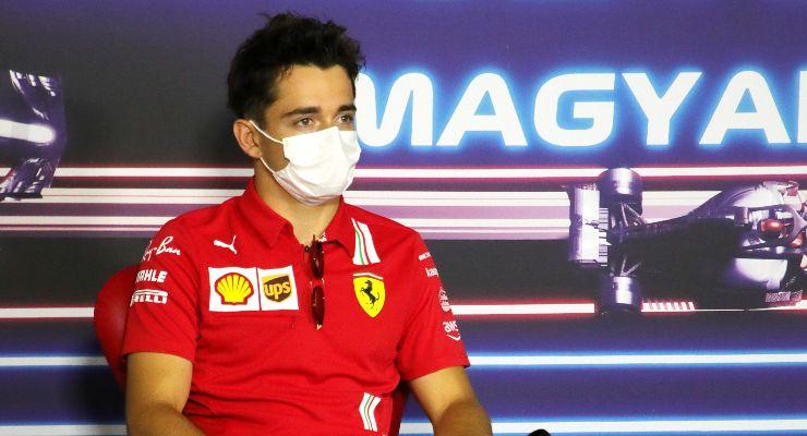 Charles Leclerc nella conferenza stampa alla vigilia del Gran Premio d'Ungheria di F1 2021 a Budapest