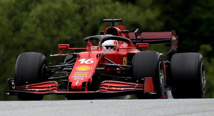 Charles Leclerc in pista al Gran Premio d'Austria di F1 2021 al Red Bull Ring