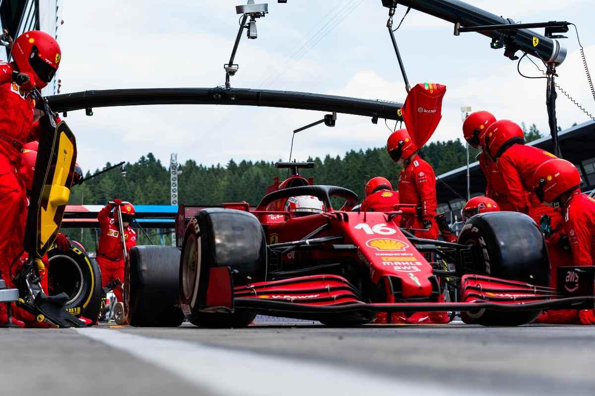 Un pit stop della Ferrari