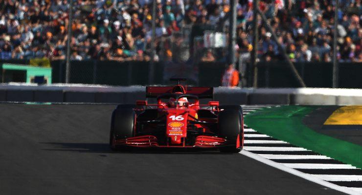 Charles Leclerc in pista al Gran Premio di Gran Bretagna di F1 2021 a Silverstone