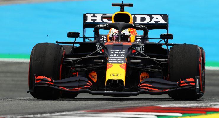 Max Verstappen nelle prove libere del Gran Premio d'Austria di F1 2021 al Red Bull Ring