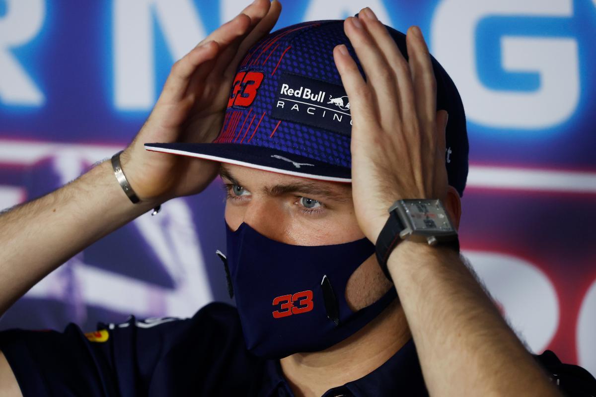 Max Verstappen nella conferenza stampa alla vigilia del Gran Premio d'Ungheria di F1 2021 a Budapest
