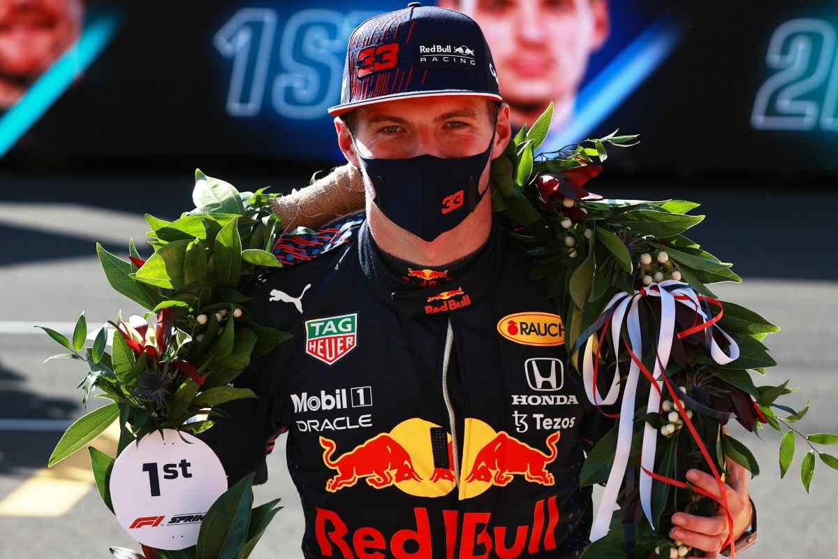 Max Verstappen premiato nella qualifica sprint del Gran Premio di Gran Bretagna di F1 2021 a Silverstone