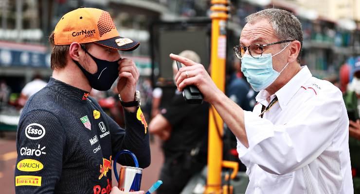 Max Verstappen e Stefano Domenicali