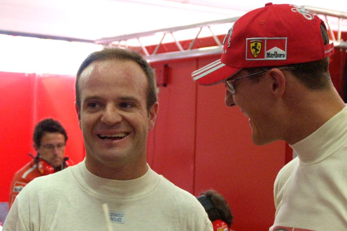 Rubens Barrichello ai tempi in cui era compagno di squadra di Michael Schumacher