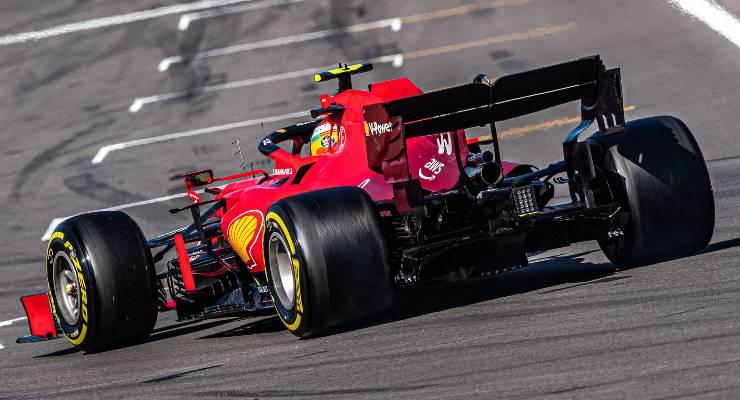 Carlos Sainz in pista
