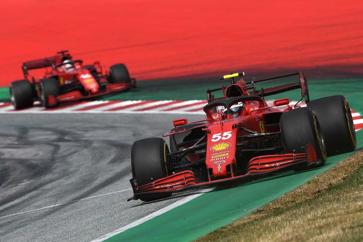 Carlos Sainz e Charles Leclerc nel Gran Premio d'Austria di F1 2021 al Red Bull Ring
