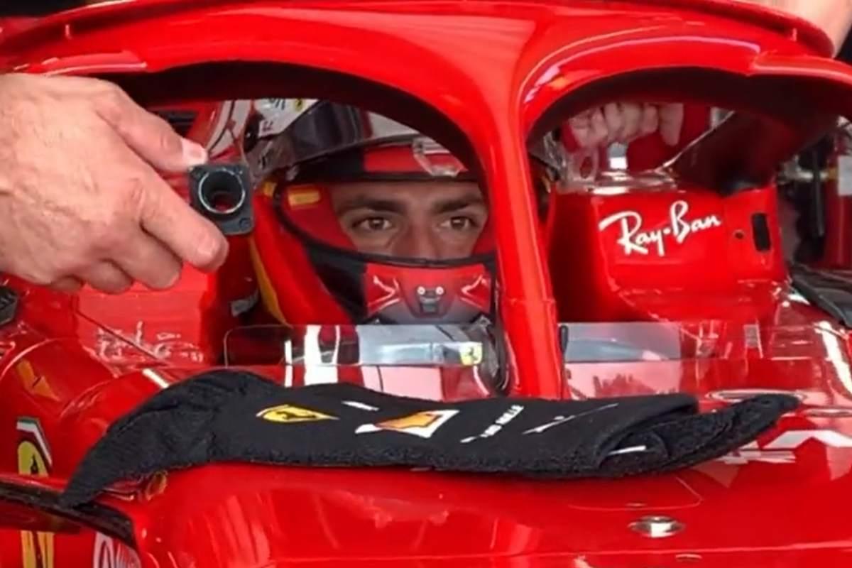 Carlos Sainz in pista al martedì