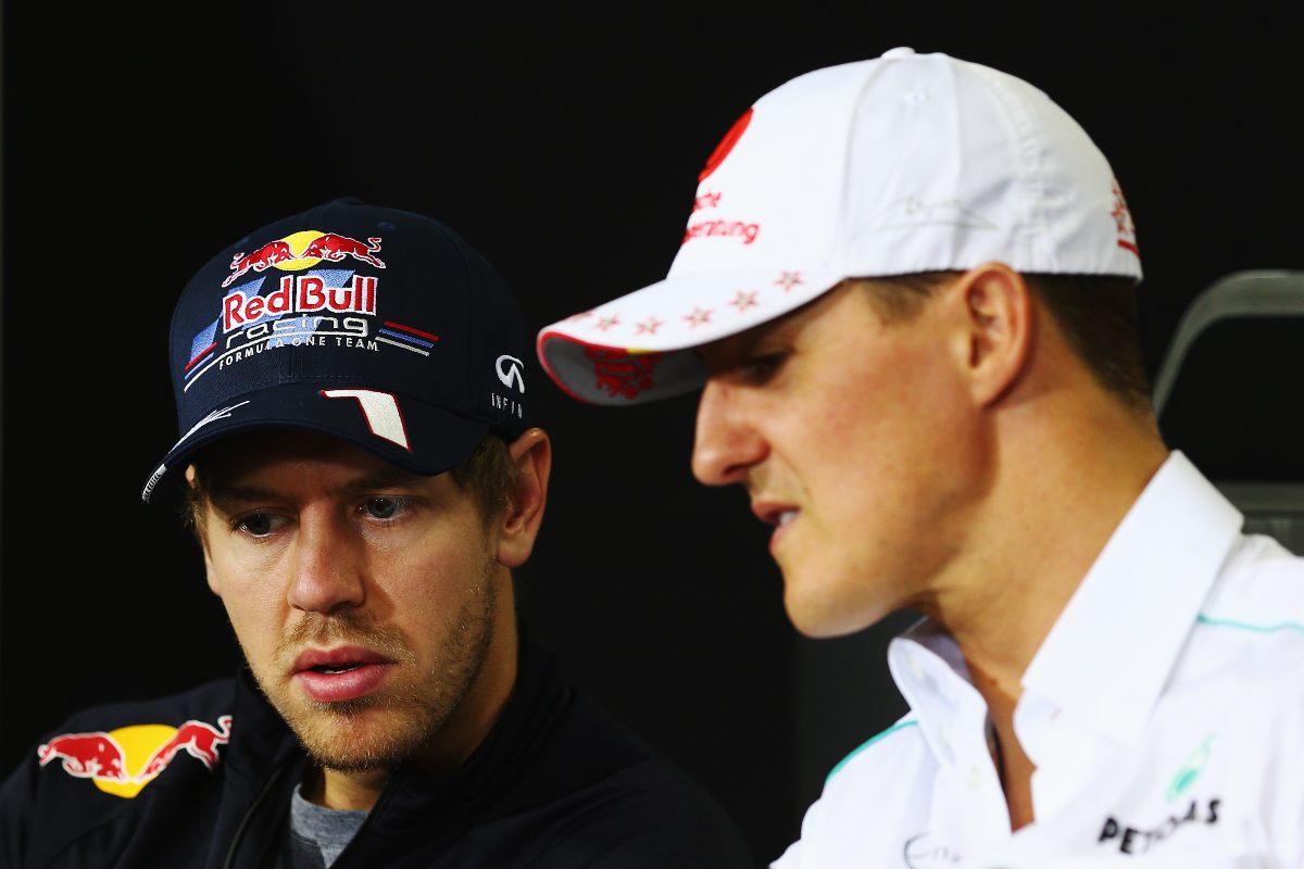 Sebastian Vettel e Michael Schumacher