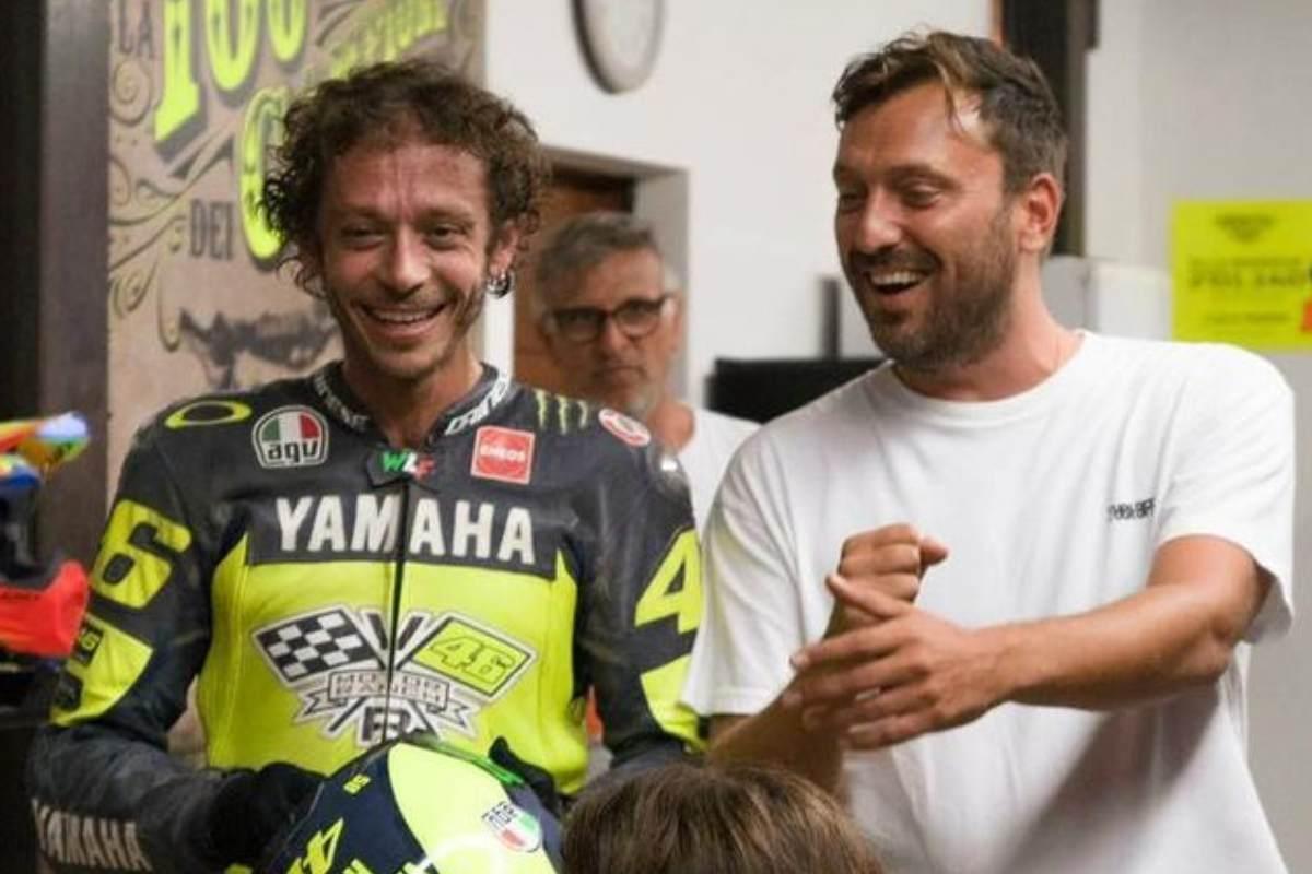 Valentino Rossi e Cesare Cremonini al Ranch di Tavullia
