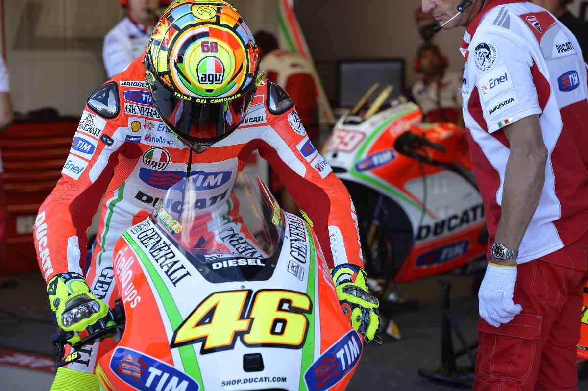 Valentino Rossi sulla Ducati