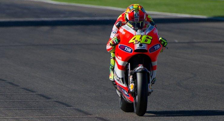 Valentino Rossi ai tempi della Ducati nel 2011