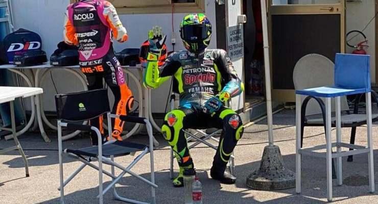Valentino Rossi dopo la giornata di allenamento al Galliano Park di Forlì