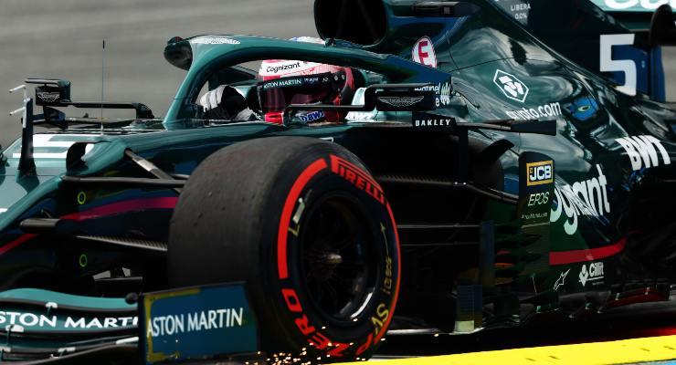 Sebastian Vettel sulla Aston Martin al Gran Premio d'Austria di F1 2021 al Red Bull Ring