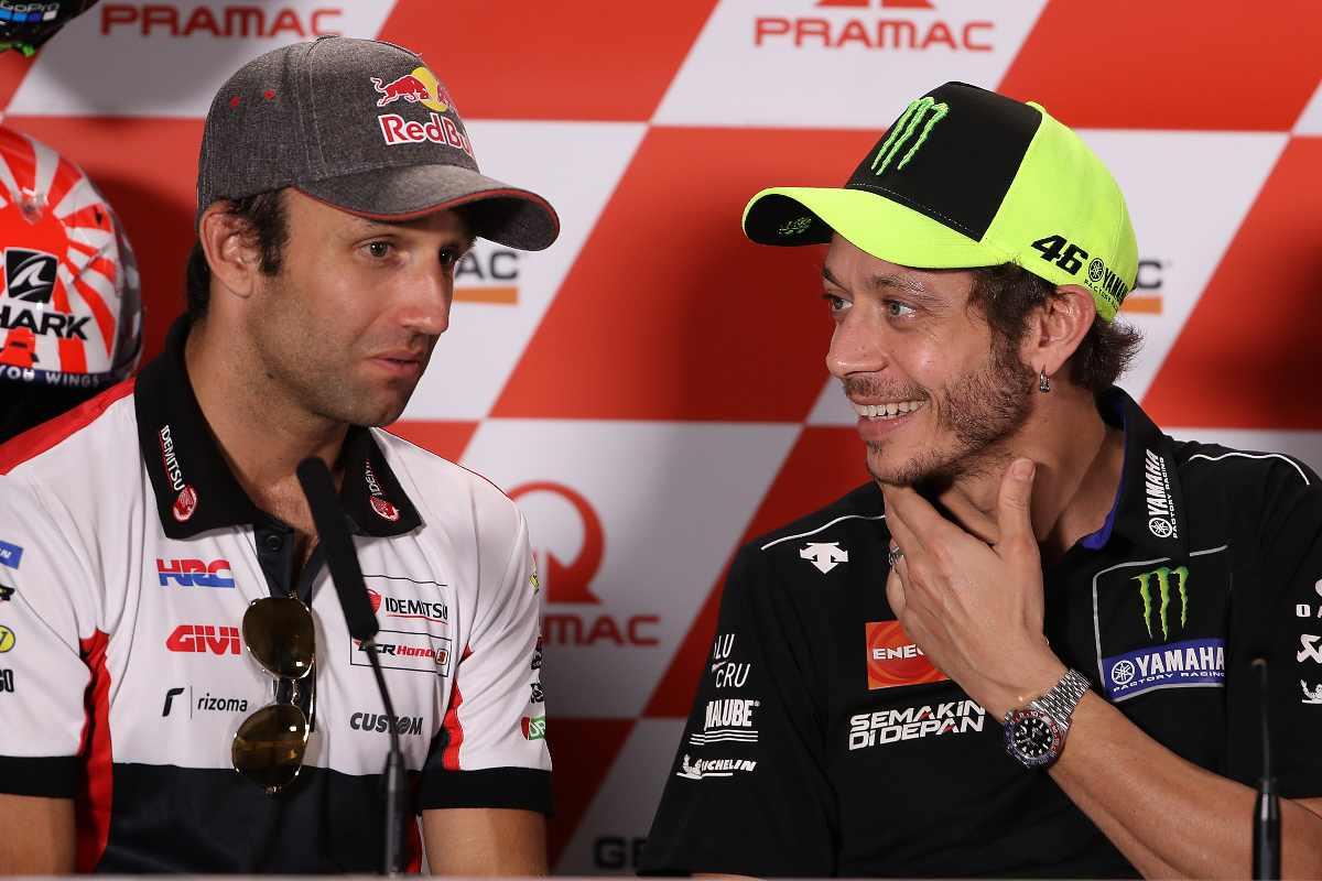 Johann Zarco e Valentino Rossi