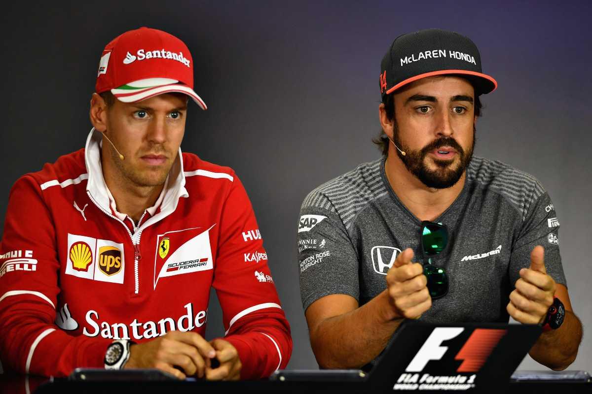 Fernando Alonso e Sebastian Vettel (GettyImages)