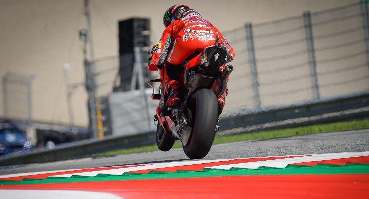Pecco Bagnaia in pista sulla Ducati al Gran Premio di Stiria di MotoGP 2021 al Red Bull Ring