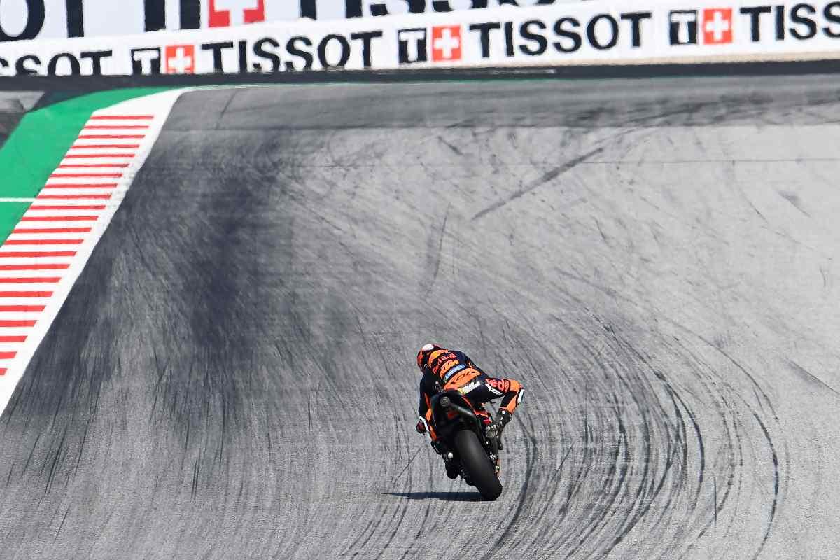Brad Binder in pista al Gran Premio d'Austria di MotoGP 2021 al Red Bull Ring